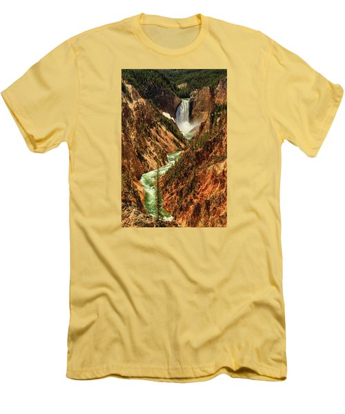 Yellowstone Men's T-Shirt (Slim Fit) by Rick Furmanek