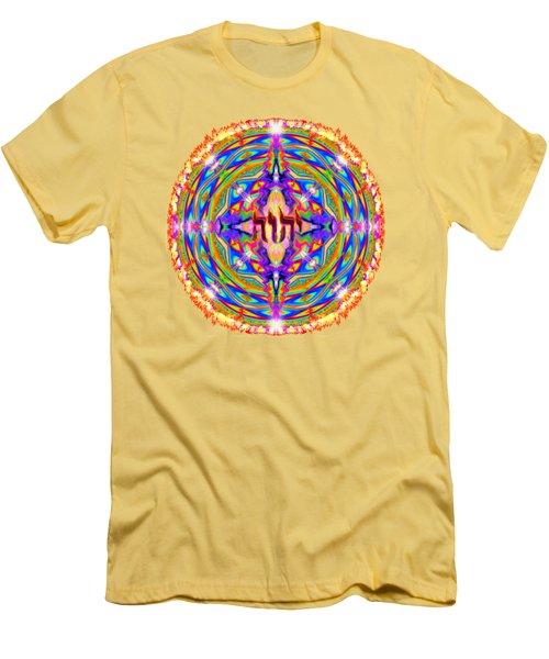 Yhwh Mandala 3 18 17 Men's T-Shirt (Slim Fit) by Hidden Mountain