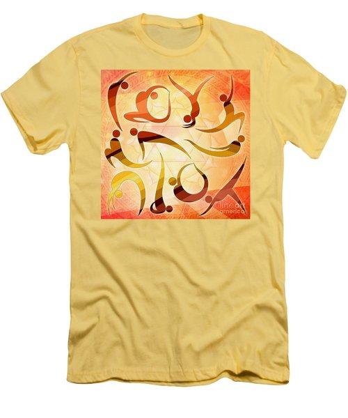 Yoga Asanas Men's T-Shirt (Athletic Fit)
