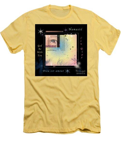 Yoga Creativity And Awareness Men's T-Shirt (Slim Fit) by Felipe Adan Lerma
