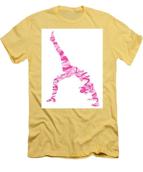 Yoga Pose Fine Art One-legged Men's T-Shirt (Athletic Fit)