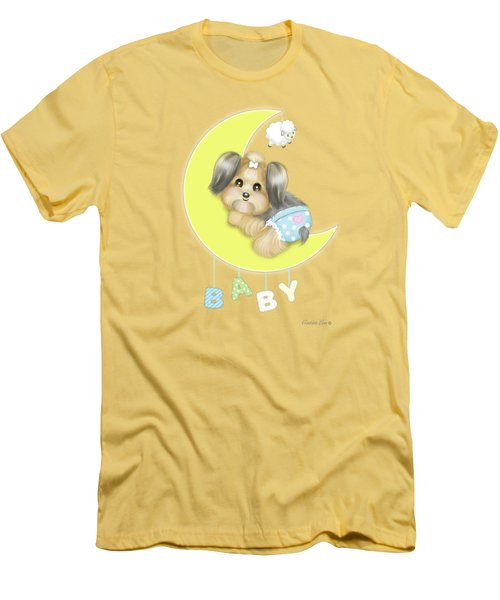 Yorkie Fofa Baby Men's T-Shirt (Athletic Fit)