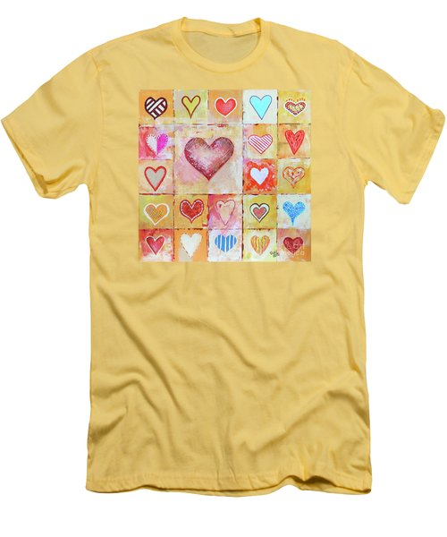 You Can Only See Clearly With Your Heart Men's T-Shirt (Slim Fit) by Jutta Maria Pusl