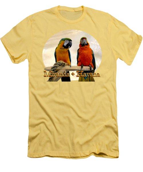 You Have A Friend In Me Men's T-Shirt (Slim Fit) by Zazu's House Parrot Sanctuary