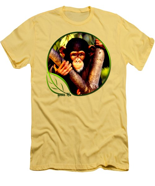 Young Chimpanzee Men's T-Shirt (Athletic Fit)