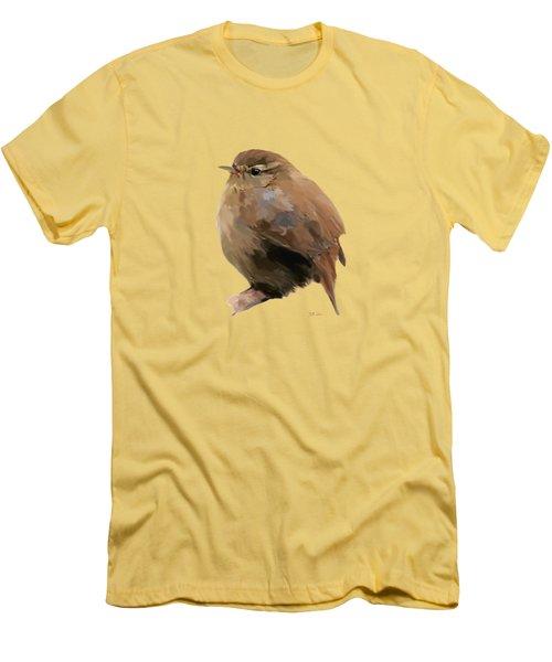 Young Female Blackbird - Turdus Merula Men's T-Shirt (Slim Fit) by Bamalam  Photography