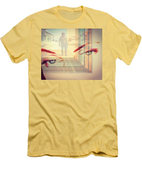 Your Eyes Only Men's T-Shirt (Slim Fit) by Theresa Marie Johnson