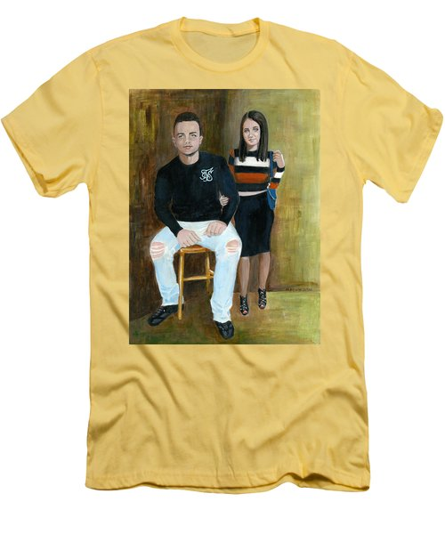 Youth And Beauty - Painting Men's T-Shirt (Athletic Fit)