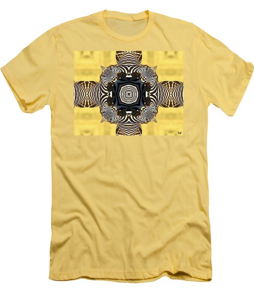 Zebra Cross Men's T-Shirt (Slim Fit) by Maria Watt