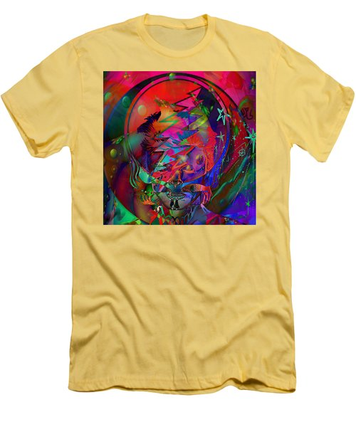 Men's T-Shirt (Slim Fit) featuring the painting Ziggy  by Kevin Caudill