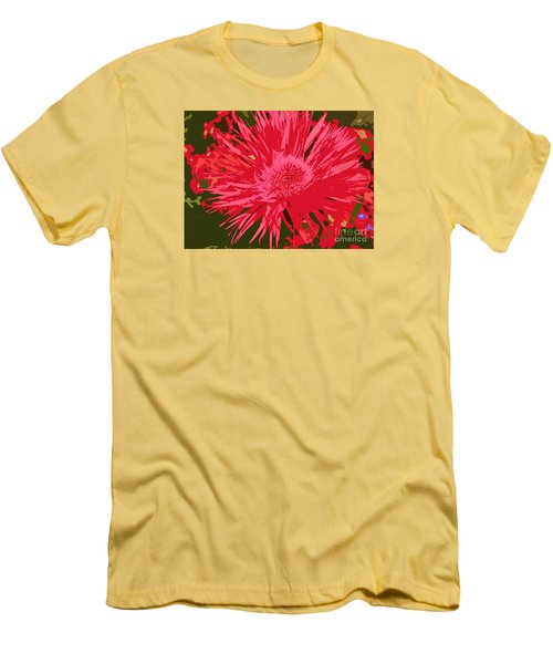 Men's T-Shirt (Slim Fit) featuring the photograph Zinnia Party by Jeanette French