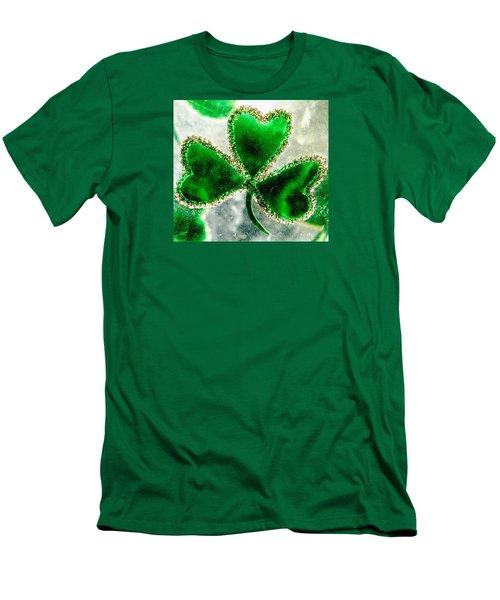 A Shamrock On Ice Men's T-Shirt (Slim Fit) by Angela Davies