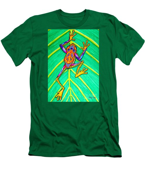 Peace Frog Men's T-Shirt (Slim Fit) by Nick Gustafson