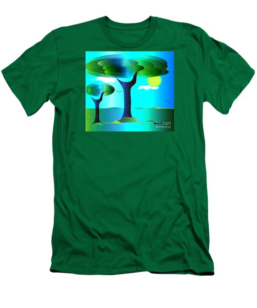 Men's T-Shirt (Slim Fit) featuring the digital art Sunny Day   by Iris Gelbart