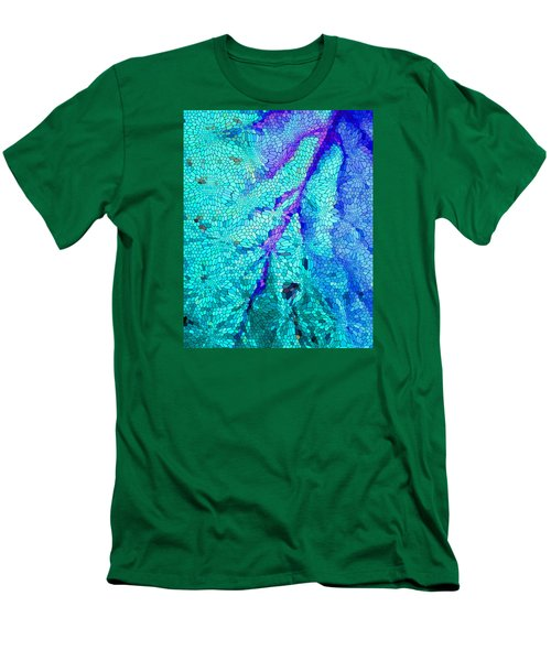Men's T-Shirt (Slim Fit) featuring the digital art A River Runs Through It by Mariarosa Rockefeller