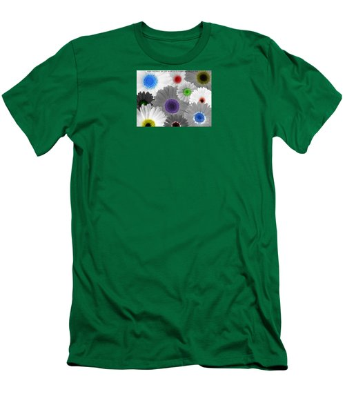 Men's T-Shirt (Slim Fit) featuring the digital art Behind Every Black And White Dream Theres A Rainbow Waiting To Be Seen by Janice Westerberg