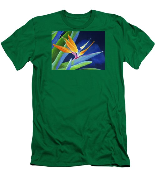 Bird Of Paradise Men's T-Shirt (Slim Fit) by Stephen Anderson