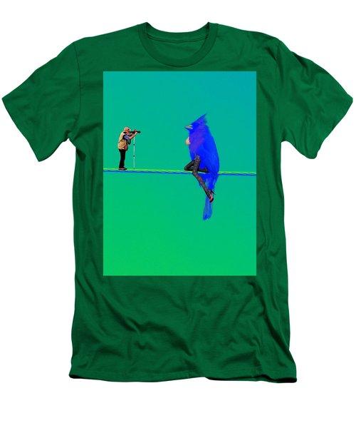 Birdwatcher Men's T-Shirt (Slim Fit) by David Mckinney
