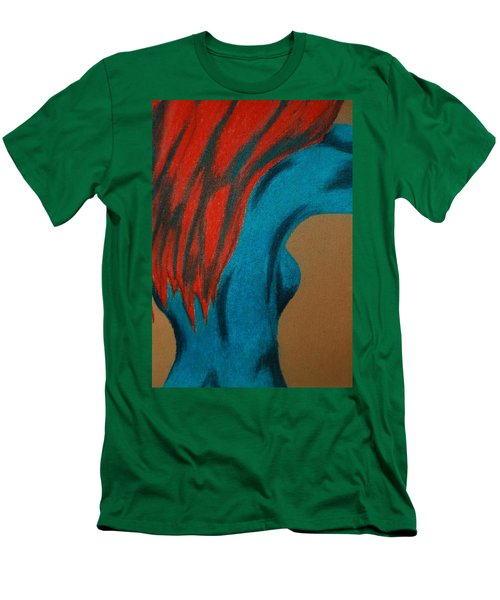 Blue Lady Men's T-Shirt (Slim Fit) by Angela Murray