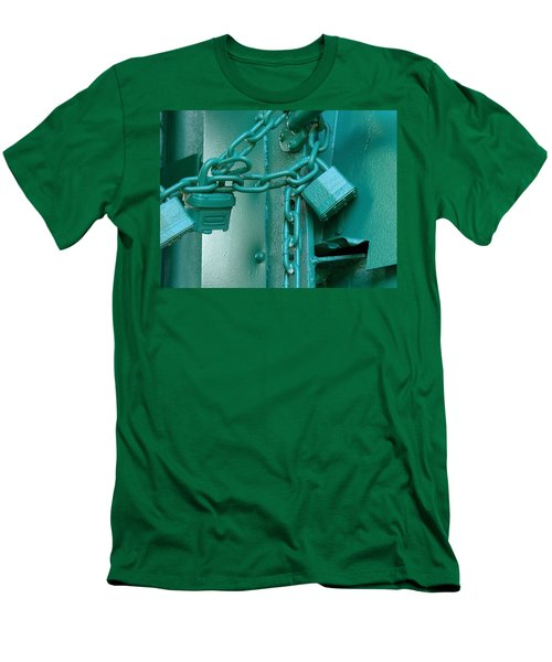 Men's T-Shirt (Slim Fit) featuring the photograph Blue Locks by Rodney Lee Williams