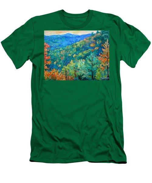 Blue Ridge Autumn Men's T-Shirt (Slim Fit) by Kendall Kessler