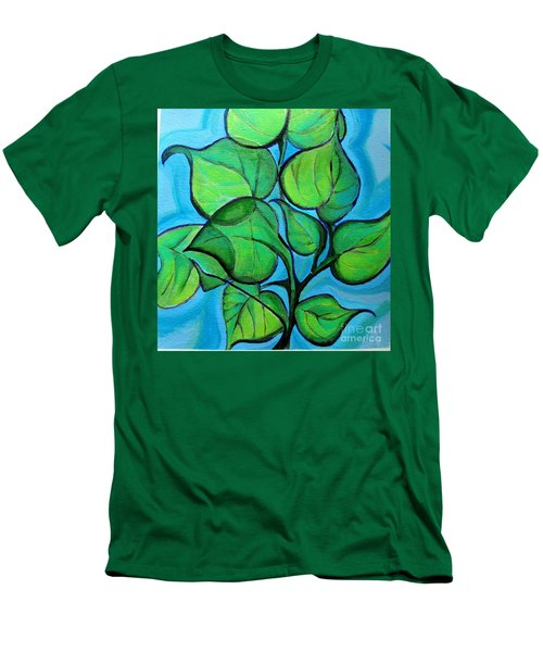 Botanical Leaves Men's T-Shirt (Athletic Fit)