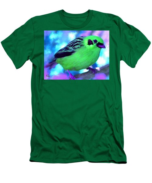 Bright Green Finch Men's T-Shirt (Athletic Fit)