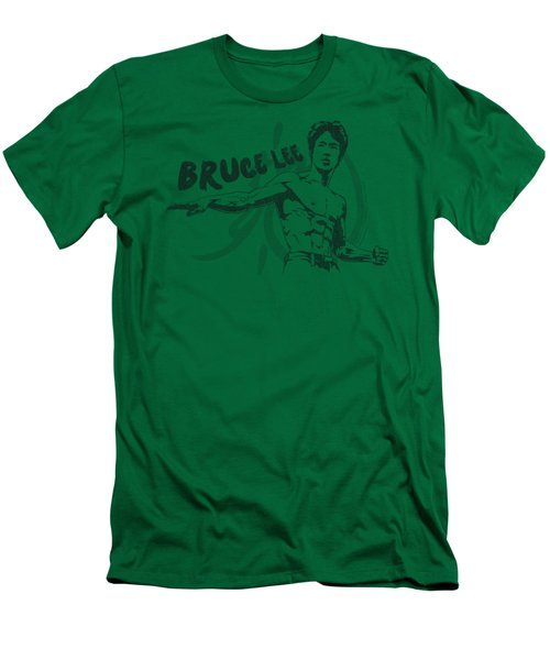 Bruce Lee - Brush Lee Men's T-Shirt (Slim Fit) by Brand A