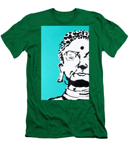 Men's T-Shirt (Slim Fit) featuring the painting Buddha by Nicole Gaitan