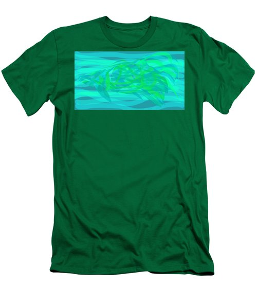 Men's T-Shirt (Slim Fit) featuring the digital art Camouflage Fish by Stephanie Grant