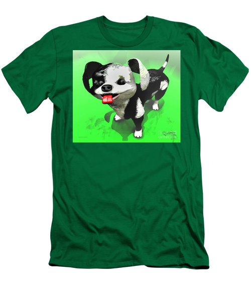 Men's T-Shirt (Slim Fit) featuring the painting Checkmate by Dave Luebbert