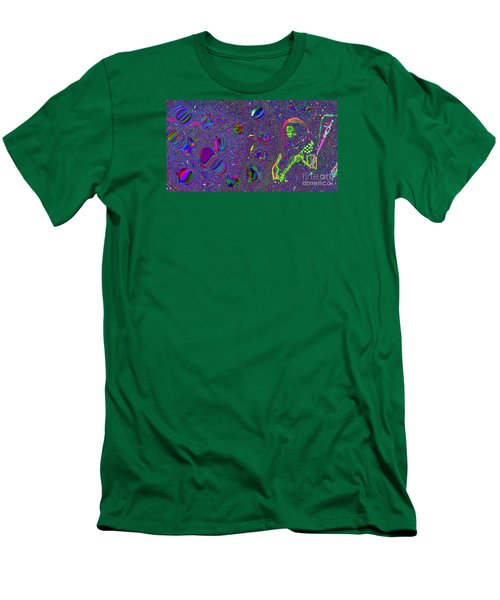 Crazy Fingers   Men's T-Shirt (Athletic Fit)