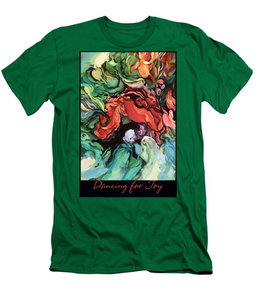 Men's T-Shirt (Slim Fit) featuring the painting Dancing For Joy 2 by Brooks Garten Hauschild