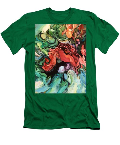 Men's T-Shirt (Slim Fit) featuring the painting Dancing For Joy by Brooks Garten Hauschild