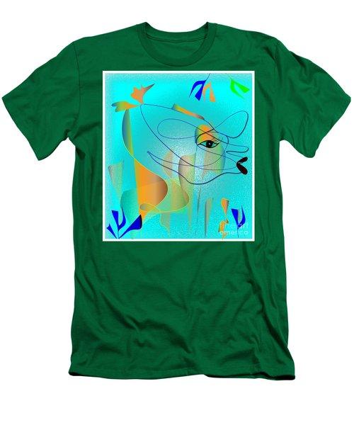 Men's T-Shirt (Slim Fit) featuring the digital art Deeep Below by Iris Gelbart