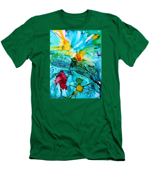 Dragonfly Blues Men's T-Shirt (Athletic Fit)