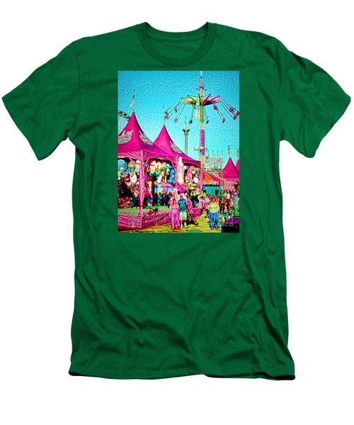 Men's T-Shirt (Slim Fit) featuring the digital art Fantasy Fair by Jennie Breeze