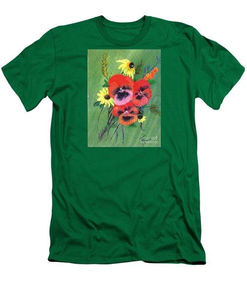 Flower Bunch Men's T-Shirt (Slim Fit)