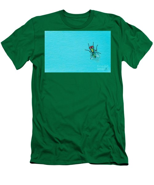 Fly On The Wall Men's T-Shirt (Slim Fit) by Stefanie Forck