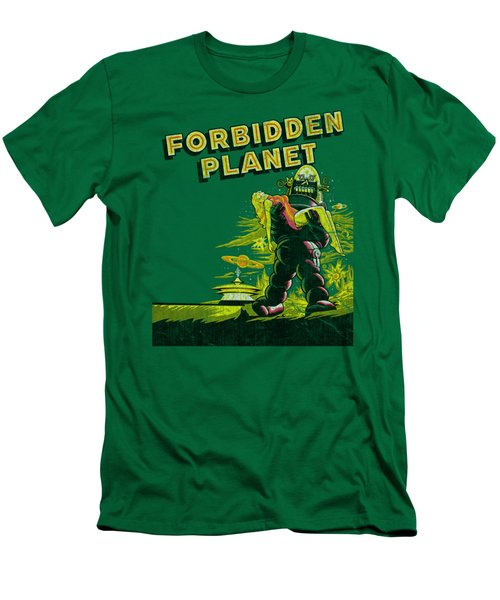 Forbidden Planet - Old Poster Men's T-Shirt (Athletic Fit)