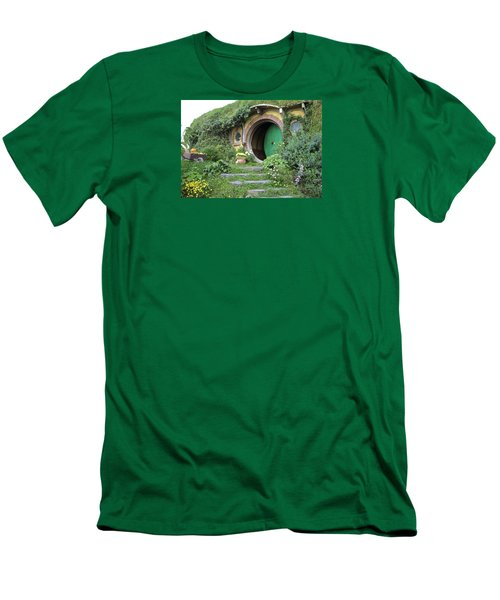 Frodo Baggins Lives Here Men's T-Shirt (Slim Fit) by Venetia Featherstone-Witty