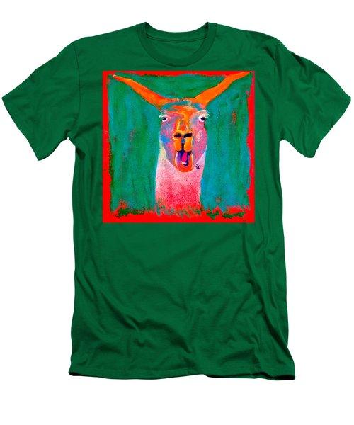 Funky Llama Art Print Men's T-Shirt (Athletic Fit)