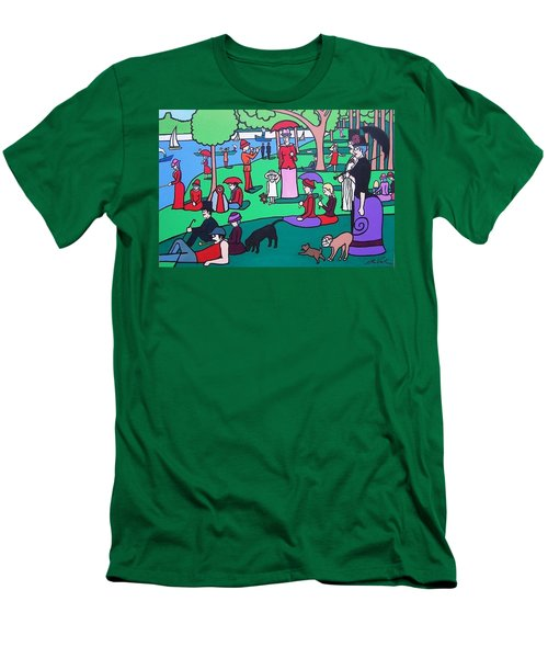 George Seurat- A Cyclops Sunday Afternoon On The Island Of La Grande Jatte Men's T-Shirt (Slim Fit) by Thomas Valentine