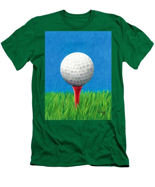Golf Ball And Tee Men's T-Shirt (Slim Fit) by Janice Dunbar
