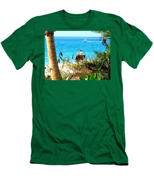 Grace Bay Riding Men's T-Shirt (Slim Fit) by Patti Whitten
