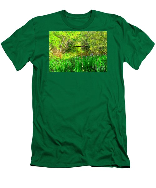 Men's T-Shirt (Slim Fit) featuring the photograph Green As Emerald's by Michael Hoard