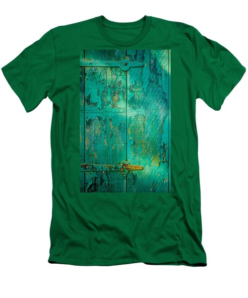 Green Door - Carmel By The Sea Men's T-Shirt (Slim Fit)