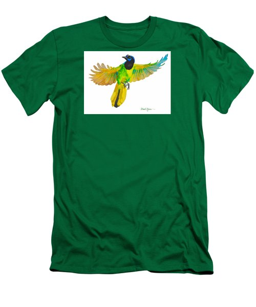 Da175 Green Jay By Daniel Adams Men's T-Shirt (Athletic Fit)