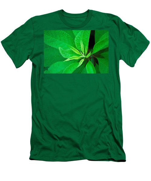 Men's T-Shirt (Slim Fit) featuring the photograph Green by Ludwig Keck