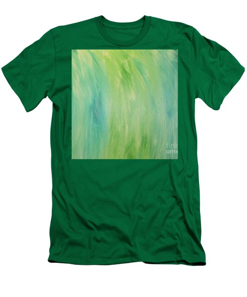 Green Shades Men's T-Shirt (Slim Fit) by Barbara Yearty